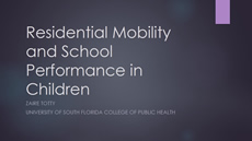 Residential Mobility and School Performance in Children