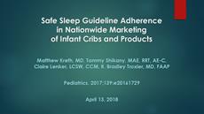 Safe Sleep Guideline Adherence in Nationwide Marketing